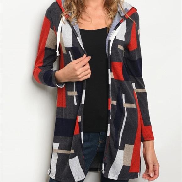 Multi color block cardigan sweater d7dea7ea6